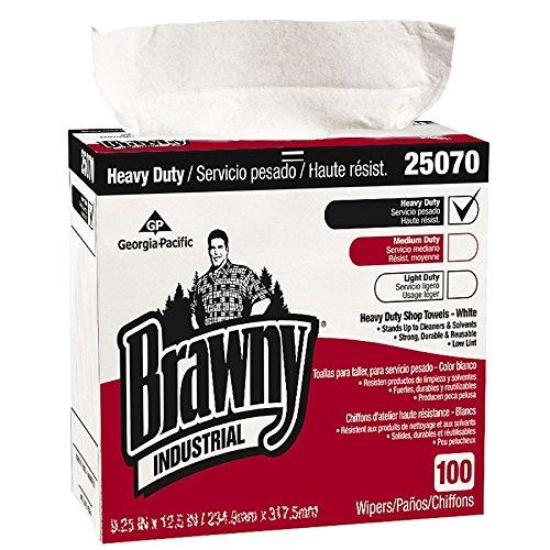 Brawny Industrial Heavy Duty Shop Towels, 9 1/8 X 16 1/2, 100/Box, 5/Carton