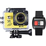 Walmeck Action Camera Sports 4K/30fps 20MP WiFi Waterproof Camera with Remote Control Perfect for Extreme sports, Outdoor Activities