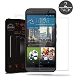 (Pack of 2) HTC One M9 Screen protector, Akwox Ultra thin 0.33mm 9H Tempered Glass Screen Protector For HTC One M9 - With HD Clarity And Touchscreen Accuracy Film