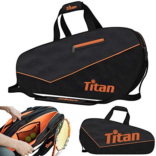 Titan Tennis Racket Bag Pro 6 Racquet | 4 Large Pockets with Padded Inner Core to Protect | Beginner, Intermediate, or Advanced | Bags Designed for Men, Women and Youth
