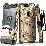 Google Pixel Case, Zizo [Bolt Series] w/Free [Google Pixel Screen Protector] Kickstand [12 ft. Military Grade Drop Tested] Holster Belt Clip- Pixel