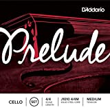 D\'Addario Prelude Cello String Set, 4/4 Scale, Medium Tension