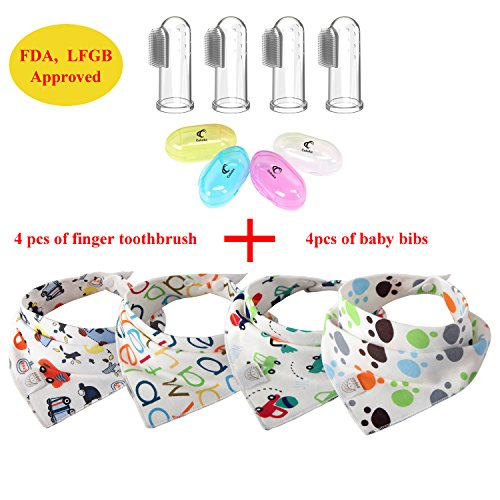 baby-finger-toothbrush-baby-drool-bibs-set-food-grade-silicone-infant-oral-massager-teether-and-infa