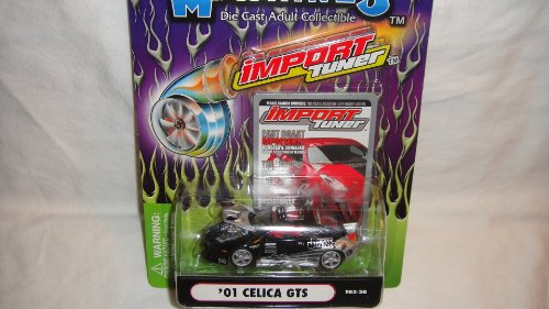 - MUSCLE MACHINES 1:64 IMPORT TUNER 2001 BLACK AND SILVER CELICA GTS DIE-CAST COLLECTIBLE