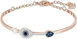 Swarovski Pulsera Symbolic Evil Eye, Azul, Combinación de Acabados Metálicos
