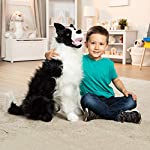 "Melissa & Doug Border Collie Dog Giant Stuffed Animal (Lifelike Plush, 27"" H x 22"" W x 14"" L, Great Gift for Girls and Boys - Best for 3, 4, 5 Year Olds and Up) 6"