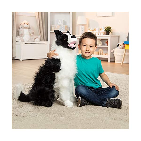"Melissa & Doug Border Collie Dog Giant Stuffed Animal (Lifelike Plush, 27"" H x 22"" W x 14"" L, Great Gift for Girls and Boys - Best for 3, 4, 5 Year Olds and Up) 2"