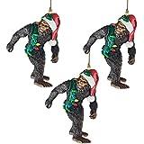 Design Toscano Bigfoot, the Holiday Yeti Holiday Ornaments: Set of Three