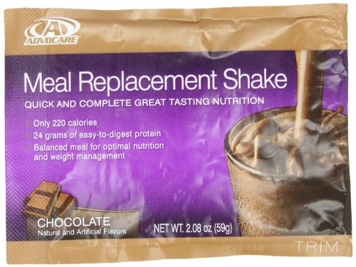 AdvoCare Meal Replacement Shakes – Box of 14 Single Serve Pouches (Chocolate), Health Care Stuffs