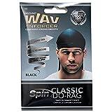 Wav Enforcer Black Do-Rag Wave & Curl Cap