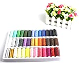 Liroyal 39 Assorted Color 200 Yards Per Unit Polyester Sewing Thread Spool Set + A set of quality manual sewing tools