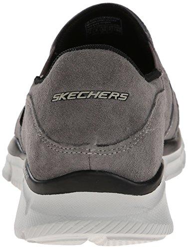 Charcoal Mind On Men's Skechers Game Suede Equalizer Sport Slip Loafer 1w6nvvaq