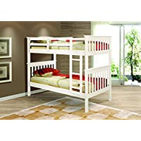 DONCO Kids Mission Bunk Bed, Twin/Twin, White