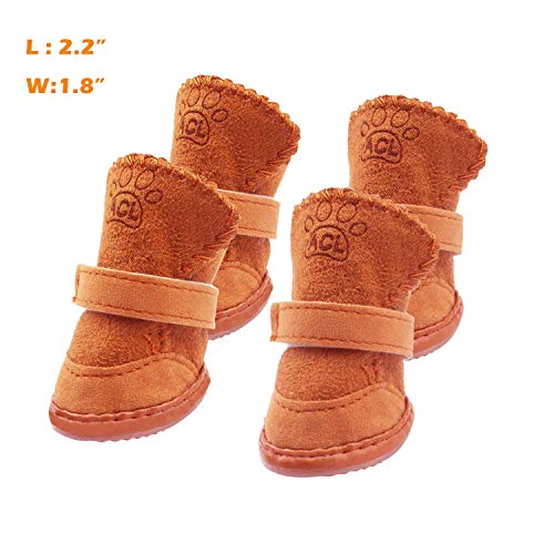 (Xivip Dog Boots, Durable Paw Protectors Anti-Slip Dog Shoes for Small and Medium Dogs (2.21.8