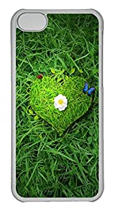 iPhone 5C Cases & Covers - Beautiful Green Heart Custom PC Soft Case Cover Protector for iPhone 5C - Transparent