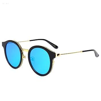 Wkaijc Mode Trends Rund Kleine Schachteln Teller Männer Und Frauen Paare Spindeldürre Beine Sonnenbrillen Sonnenbrillen ,B