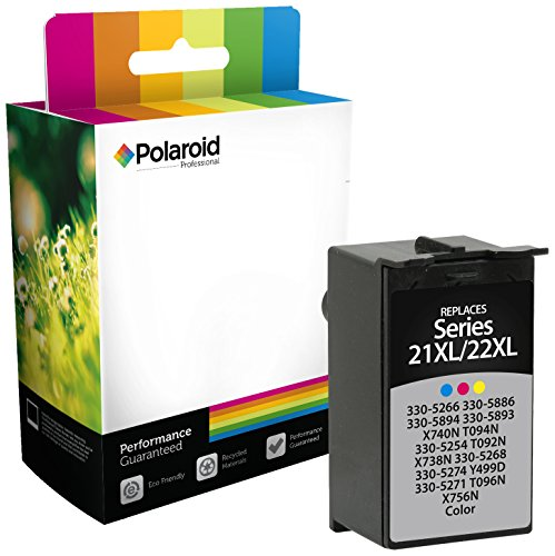 Polaroid Professional D-D33XLB-PRO Remanufactured Inkjet Cartridge Replacement for Dell 33XL Series (T9FKK, 331-7377), Black Ink (Epson Replacement Cartridge Ink Polaroid)