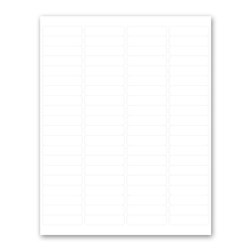 PDC Healthcare DPSL12-2 Label Laser, Paper Permanent, 4''-2'' x 1/2'', White, 80 per Sheet, 1000 Sheets per Box (Pack of 8000)