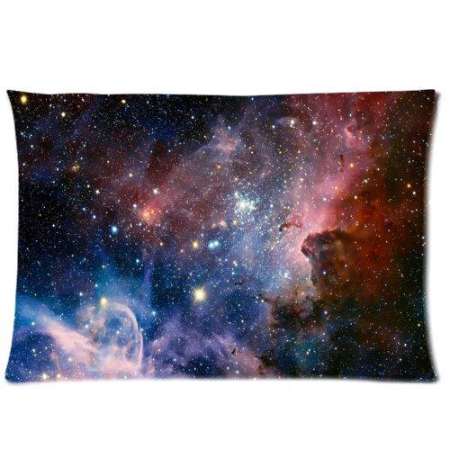 WECE Funny Cheap Pillow Case,Galaxy Space Universe Pillowcase, Zippered Pillow Cases - Pillow Protector Cover Case - Standard Size 20