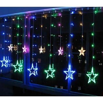 m x m hay estrellas y leds luces perfecto decorativas para fiesta navidad