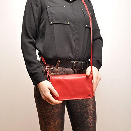 Bolso Color Para Cruzados Berba Rojo Mujer CPxqwPId