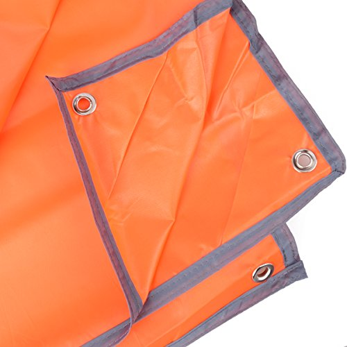 Azurec Outdoor Waterproof Camping Tent Footprint Tarp Groundsheet Blanket Mat for Sunshade Shelter Canopy Shade Rain (Orange+Accessories, 84.6 x 84.6 inches)