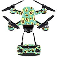 Skin for DJI Spark Mini Drone Combo - Seafoam Avocados| MightySkins Protective, Durable, and Unique Vinyl Decal wrap cover | Easy To Apply, Remove, and Change Styles | Made in the USA