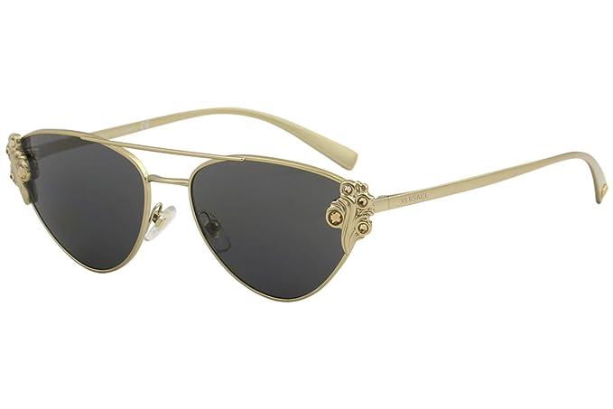 Amazon.com: Gafas de sol Versace VE 2195 B 142887 Tribut ...