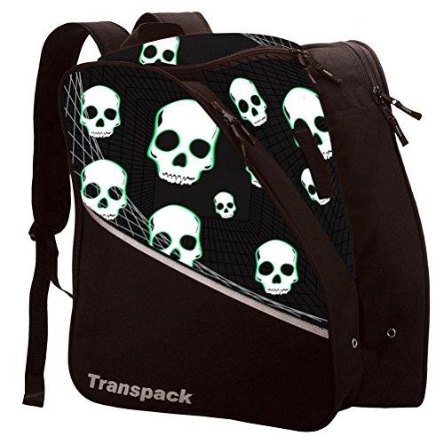 Transpack Edge Junior Kids Ski/Snowboard Boot Bag - Black/Green ()