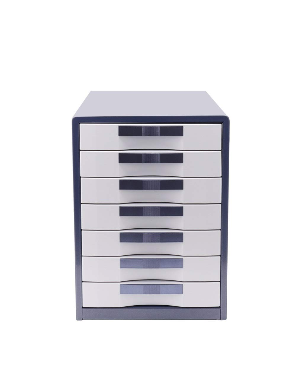 File Cabinet Desktop Cabinet Storage Organizer Organizer 7 Drawers 710x410x500 (cm) Plastic - Color: Blue, Brown Locking Filing cabinets
