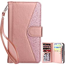 Dailylux iphone 6 Plus Case,iphone 6s Plus Case,Wallet Case Premium Soft PU Leather Closure Flip Cover With 9 Card Slot,Luxury Bling Case for iphone 6 Plus/6s Plus 5.5 inch-Bling
