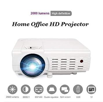 Asg Proyector para el hogar HD LCD Bluetooth Proyector portátil ...