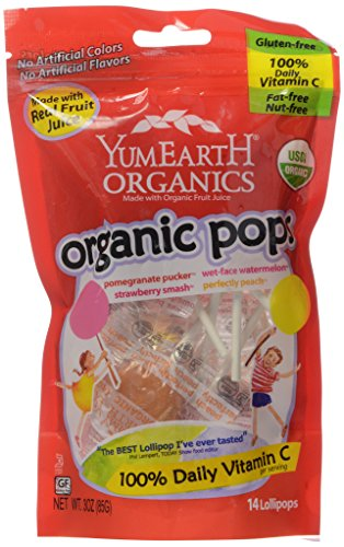 Yummyearth Organic Lollipops Assorted Flavors product image
