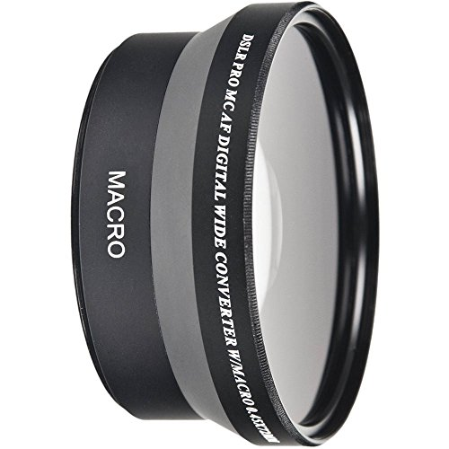 55mm Wide Angle 0.45x Conversion Lens with Macro Close-Up Attachment for Sony a7, a7S, a7IIK, a7II, a7R II Mirrorless Camera SLT A57 A58, A58K, A65, A65V, a68, A77II, A77 II, A99V DIgital SLR Camera (Converter Wide)