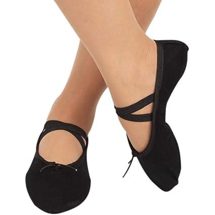 Smilikee Zapatillas de Ballet de Lona para Baile, Gimnasia ...