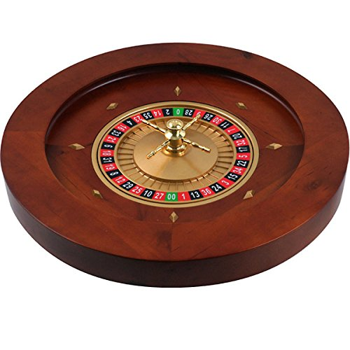 Trademark Poker 19.5-Inch Deluxe Wooden Roulette Wheel by Trademark Global