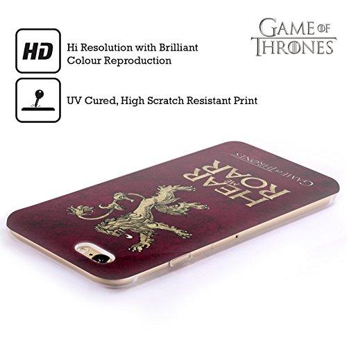 Officiel HBO Game Of Thrones Lannister Symboles Affligés Sombres Étui Coque en Gel molle pour Apple iPhone 5 / 5s / SE