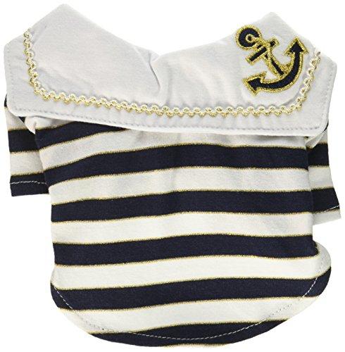 Anima AN13320-XXS Sailor Boy Pet Shirt Clothes, XX-Small, White/Blue