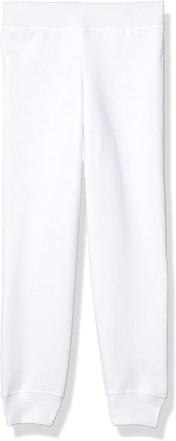 Hanes Girls' ComfortSoft EcoSmart Fleece Jogger Pants, White, X Small: Clothing