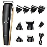5 in 1 Cordless Multi-functional electric Hair clippers Hair trimmers with Scissors Combs