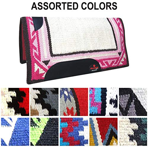 HILASON 1 Piece Show New Zealand Wool Horse Saddle Blanket Pad (Assorted Color)