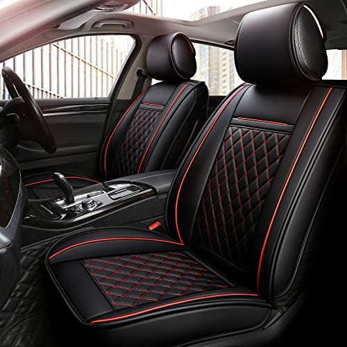 Black S- tech automotive Passat CC All Models | Heavy Duty Water Resistant Front Seat Covers//Protectors 1+1