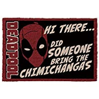 1art1 Deadpool Door Mat Floor Mat - Hi There, Did Someone Bring The Chimichangas (24 x 16 inches)