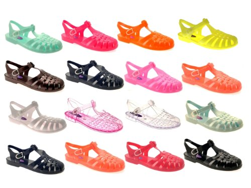 JELLY BEACH 3 8 OUT JELLIES DORA LADIES UK CUT GIRLS RETRO White LORA SIZE SANDALS FLAT WOMENS SHOES SUMMER SFxTqTvaE