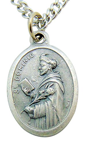 (Westman Works Saint Dominic Metal Italian Pendant 3/4 Inch W Stainless Chain)