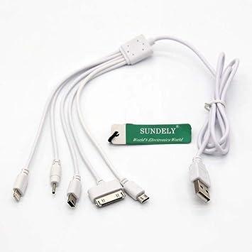 Sundely - Cable Cargador de teléfono 5 en 1, multiUSB, para ...