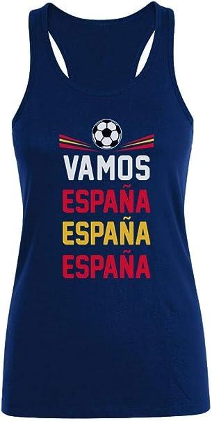 Camiseta sin Mangas para Mujer - Vamos España - Apoyemos a la ...