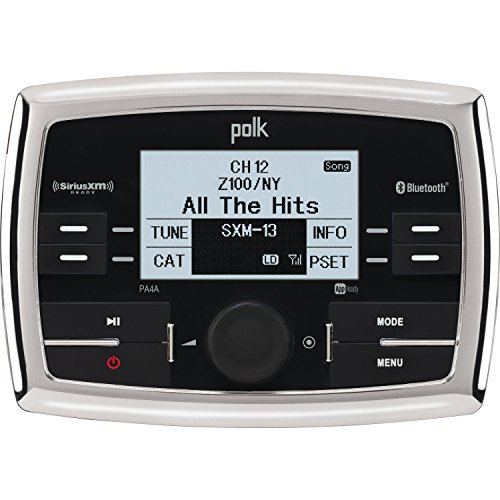 Polk PA4A WB/AM/FM/USB/SiriusXM Ready/Bluetooth Stereo with App (Polk Marine Audio)