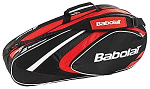 BABOLAT Club Line 6 Racquet Bag, Black/Red