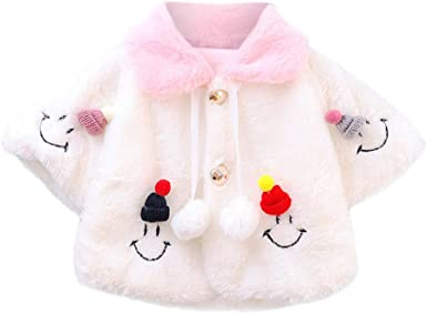 MEIbax Otoño e Invierno Linda niña bebé cálido Abrigo Capa Gruesa y Peluda Camisa de Manga Larga suéter Ropa para niños: Amazon.es: Ropa y accesorios